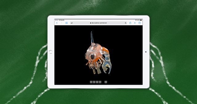 オブジェクトVR<br />デジタル教材用「微生物フィギュア」
